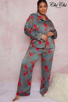 Chi Chi London Multi Curve Shawna Pyjama Set