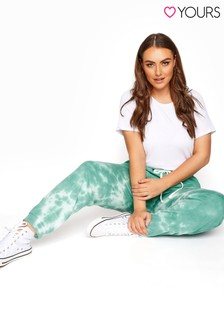 Yours Green Tie Dye Joggers