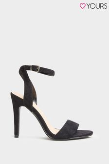 Yours Black Two Part High Sandal
