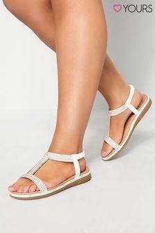 Yours White Diamante Sandal