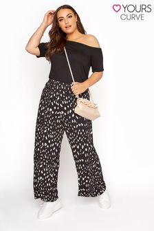Yours Limited Black Wide Leg Jersey Trousers