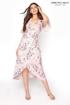 Long Tall Sally Pink Moroccan Wrap Dress