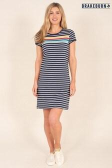 Brakeburn Navy Rainbow Stripe Dress