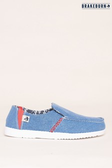 Brakeburn Blue Blue Slip On Shoes