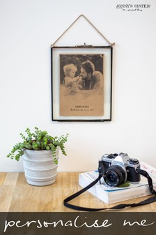 Personalised Glass Framed Photo Print by Jonny's Sister