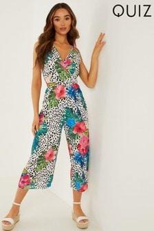 Quiz Pink Tropical Jumpsuit