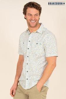 Brakeburn Cream Leaf Print Shirt