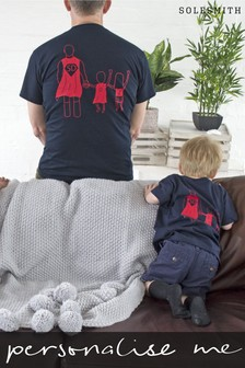 Personalised Children's Super Dad T-Shirts by Solesmith