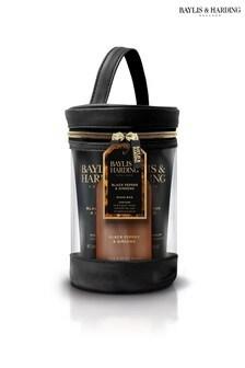 Baylis & Harding Signature Men's Black Pepper & Ginseng Drum Wash Bag Set