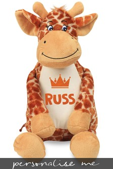 Personalised Giraffe Name and Icon Cuddly Toy