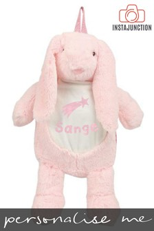 Personalised Bunny Name and Icon Cuddly Back Pack