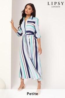 Lipsy Multi Petite Printed Maxi Shirt Dress