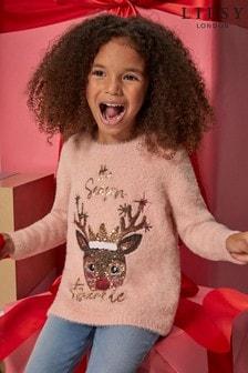 Lipsy Pink Mini Christmas Jumper