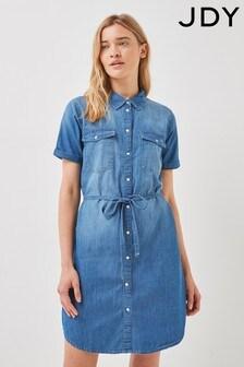 JDY Medium Blue Denim Mini Dress