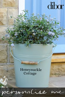 Personalised Bucket Style Plant Pot by Dibor