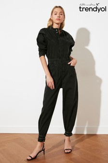 Trendyol Black Denim Utilty Jumpsuit
