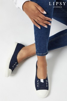 Lipsy Navy Blue Lace Up Pump Trainer
