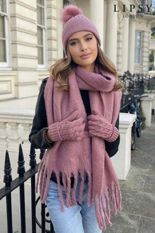 Lipsy Pink Super Soft Chunky Brushed Scarf