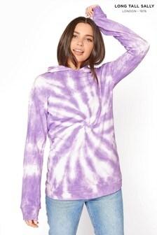 Long Tall Sally Purple Tie Dye Hoodie