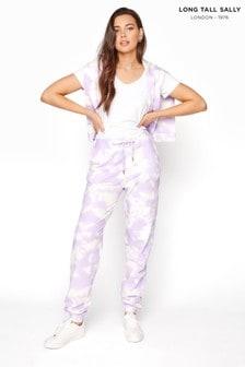 Long Tall Sally Purple Tie Dye Joggers