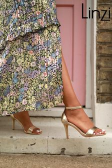 Linzi Gold Kimmy Open Back Barely There Stiletto Sandal