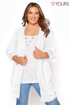 Yours White Broidery Cover Up