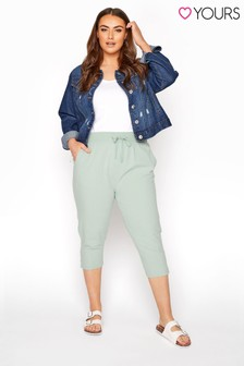 Yours Green Cool Cotton Crop Jogger