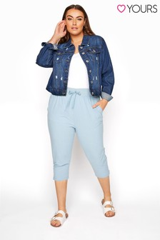 Yours Blue Cool Cotton Crop Jogger
