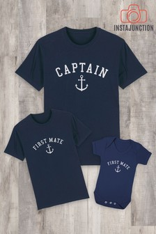 Instajunction Blue First Mate Kid's T-Shirt