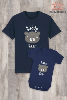 Instajunction Blue Baby Bear Baby Grow Bodysuit