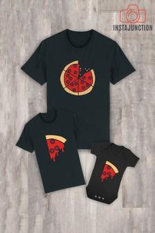 Instajunction Black Pizza Slice Kid's T-Shirt