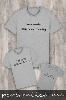 Personalised Proud Family Member Kid's T-Shirt by Instajunction