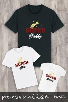 Personalised Super Star Baby Grow Bodysuit by Instajunction