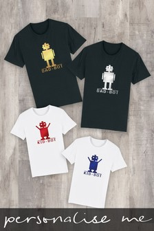 Personalised Kid-Bot Father's Day Kid's T-Shirt by Instajunction