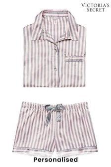 Personalised Victoria's Secret Satin Boxer PJ Set