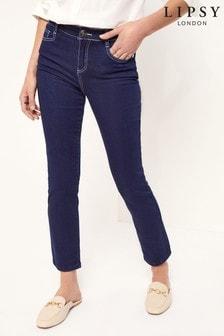 Lipsy Dark Blue Scarf Belt Slim Leg Jean