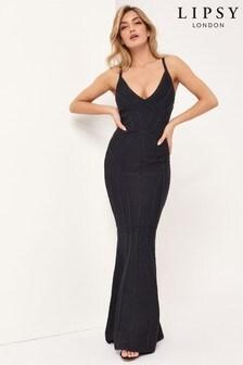 Lipsy Black Bandage Maxi Dress