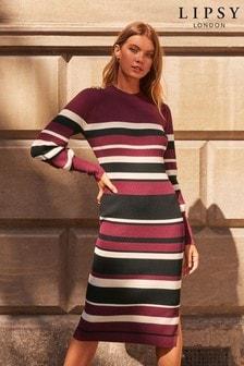 Lipsy Multi Stripe Knitted Dress