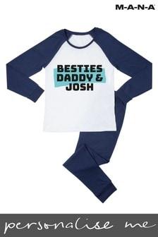 Personalised Besties with my Daddy Kids Pyjamas by MANA