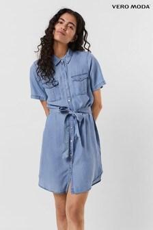 Vero Moda Blue Lightweight Denim Shirt Dress