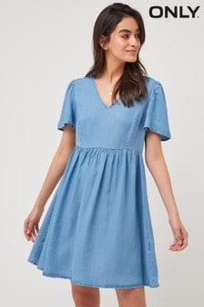 Only Blue Denim Smock Dress