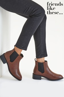 Friends Like These Brown Regular Fit Chelsea Boot