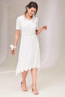 Joanna Hope Ivory Beaded Layer Dress