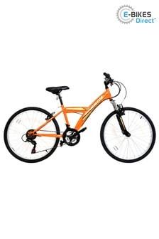 E-Bikes Direct Orange Galaxy Energy Unisex Junior Hardtail Mountain Bike 24 Inch Wheel 18 Speed