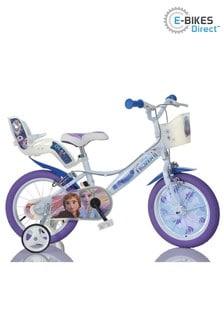 E-Bikes Direct WhiteBlue Dino Disney Licensed Frozen 2 Kids - 14 Inch Mag Wheels