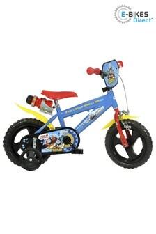 E-Bikes Direct BlueYellowRed Dino Thomas & Friends Boys Bike with Drinks Bottle - 12 Inch Mag Wheels