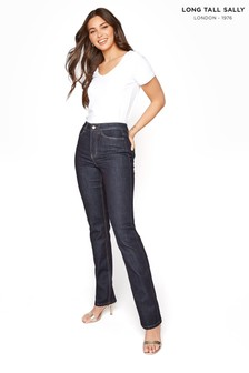 Long Tall Sally Blue Straight High Rise Jeans