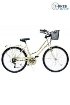 E-Bikes Direct White Aurai Trekker Ladies Heritage Bike 26 6 Speed