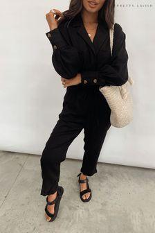 Pretty Lavish Black Cara Boilersuit