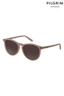 PILGRIM Rose Gold Rose Acetate Sahara Sunglasses